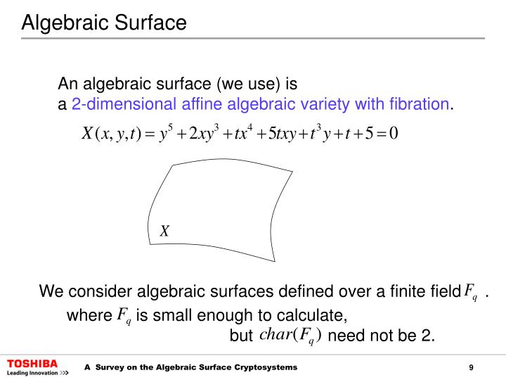 Algebraic Surface