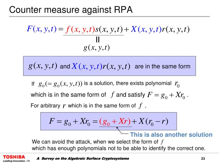 Counter measure against RPA