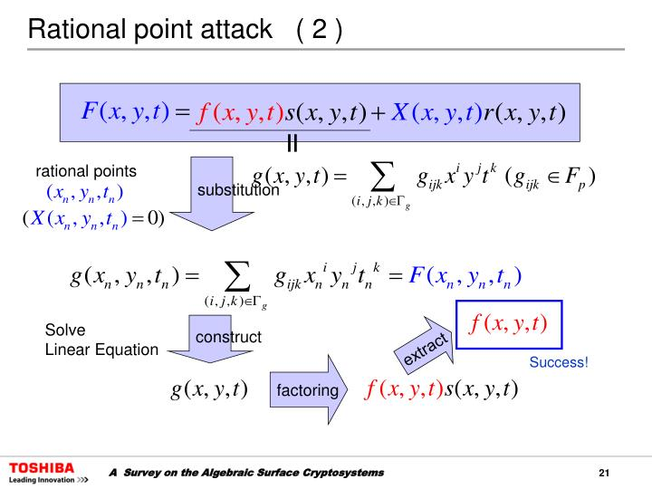 Rational point attack   ( 2 )