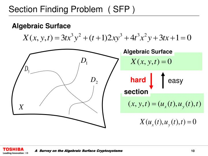 Section Finding Problem  ( SFP )