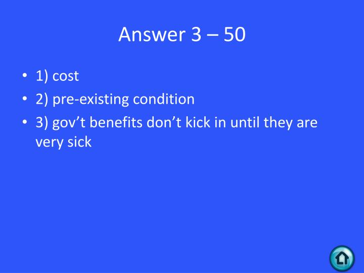 Answer 3 – 50