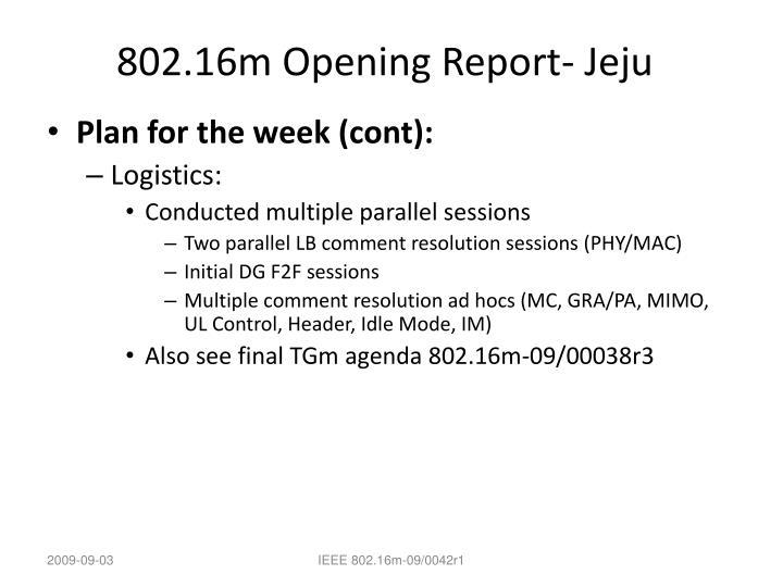 802.16m Opening Report- Jeju