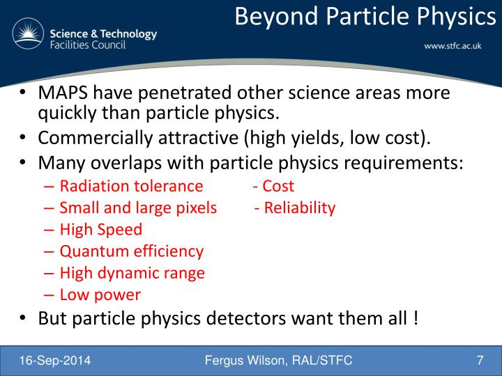 Beyond Particle Physics