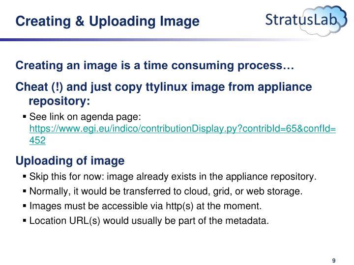 Creating & Uploading Image