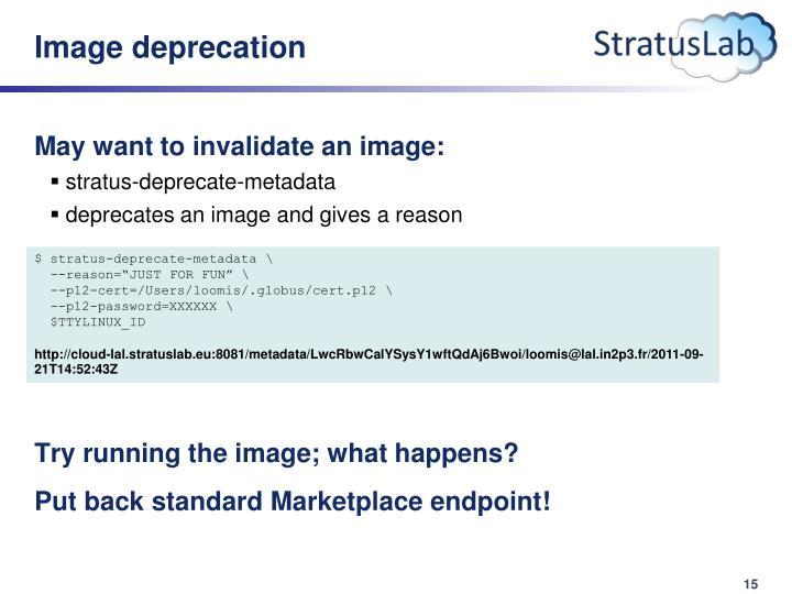 Image deprecation