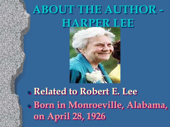 About the author harper lee
