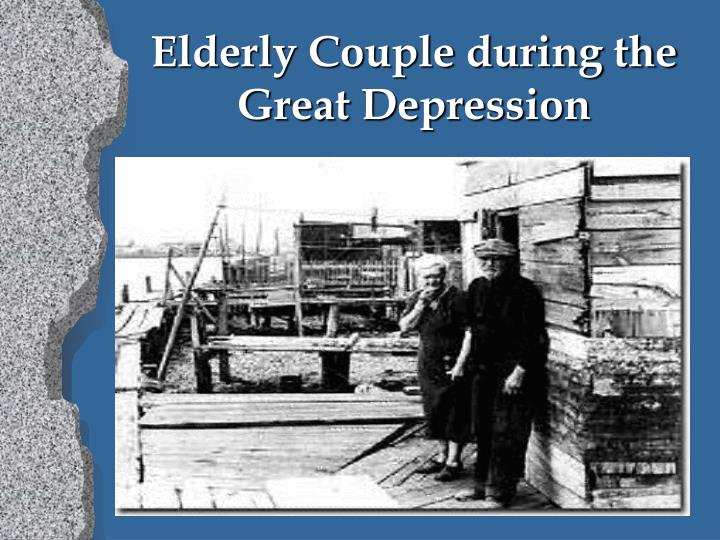 Elderly Couple during the Great Depression