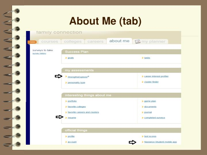 About Me (tab)