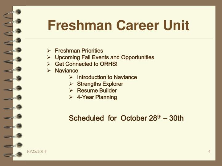 Freshman Career Unit