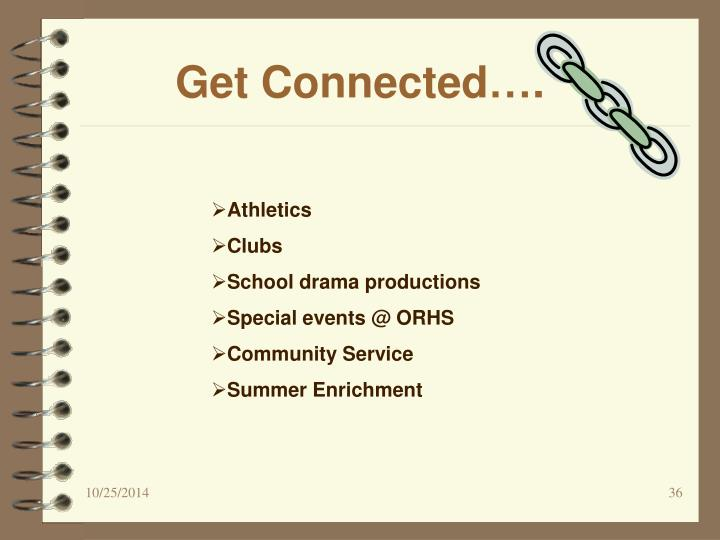 Get Connected….