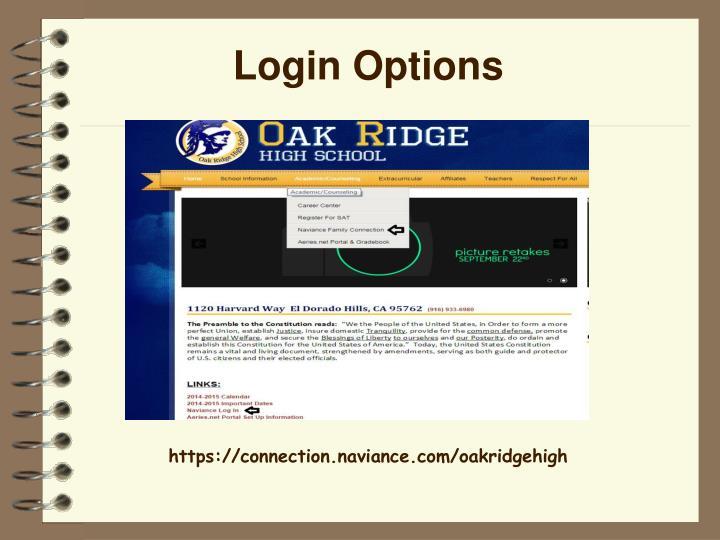 Login Options