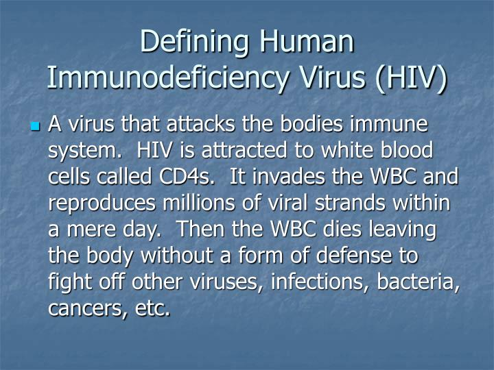 Defining human immunodeficiency virus hiv