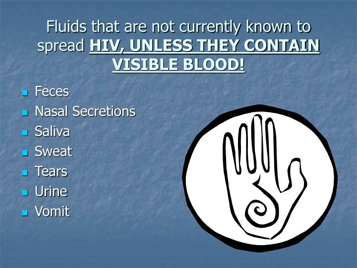 Fluids that are not currently known to spread