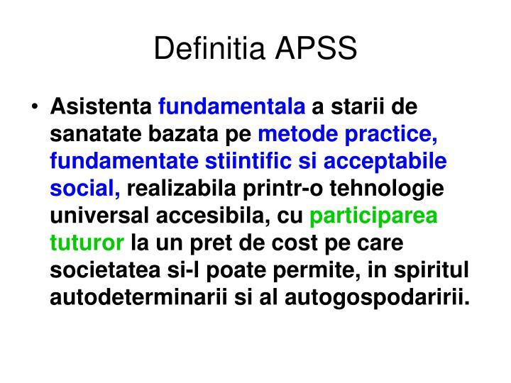 Definitia APSS