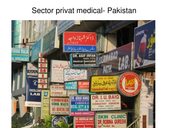Sector privat medical- Pakistan