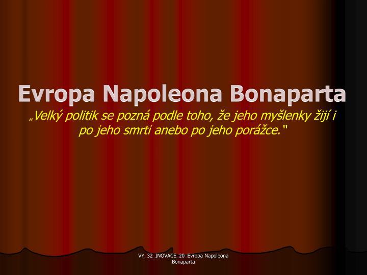 Evropa Napoleona Bonaparta