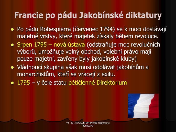 Francie po pádu Jakobínské diktatury
