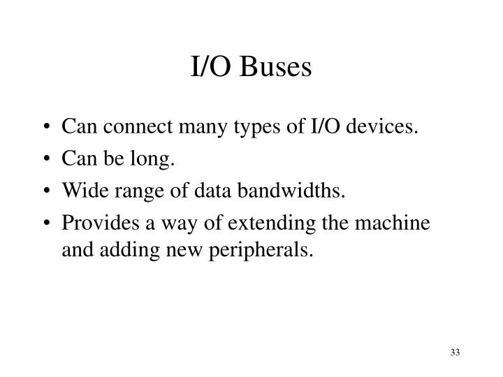 I/O Buses