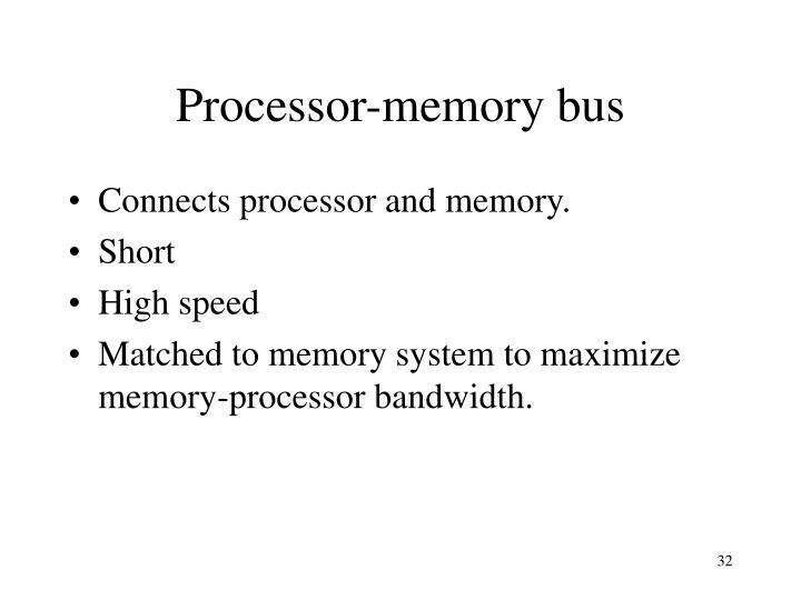 Processor-memory bus