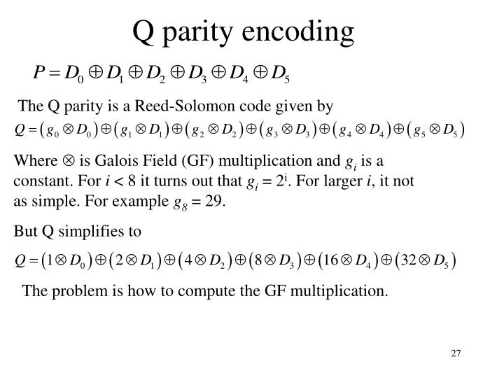 Q parity encoding