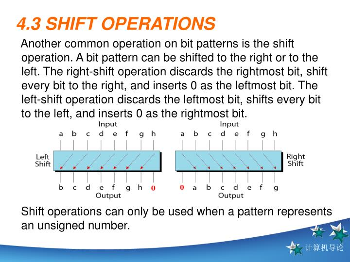 4.3 SHIFT OPERATIONS