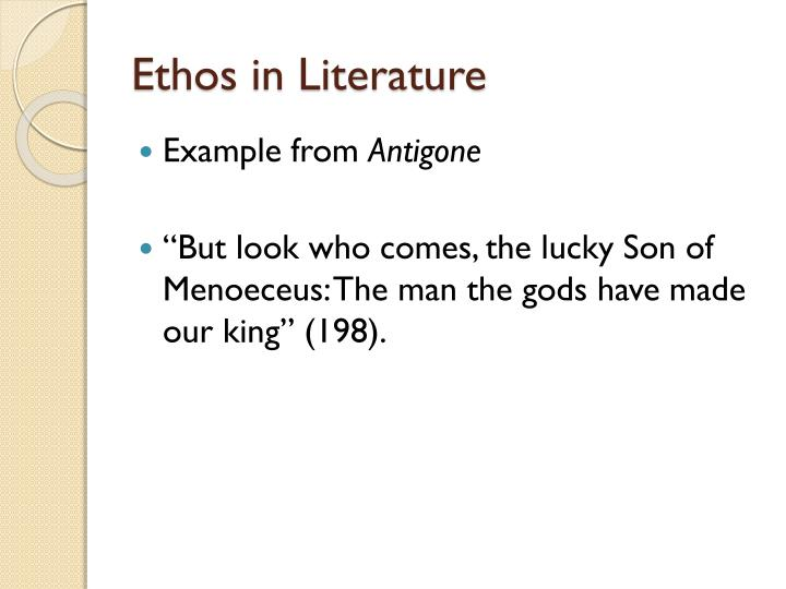 Ethos in Literature
