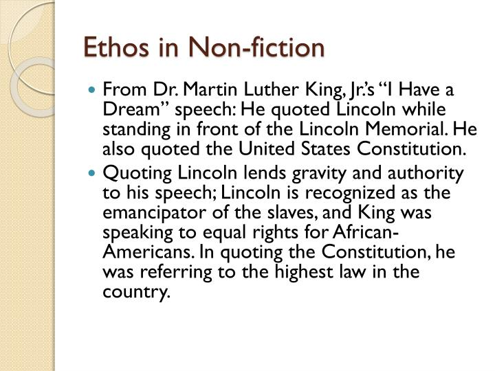 Ethos in Non-fiction