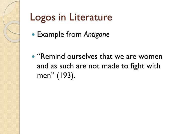 Logos in Literature