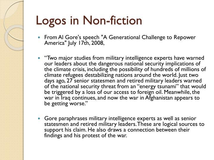 Logos in Non-fiction