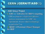 cern cern it asd1