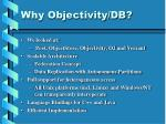 why objectivity db
