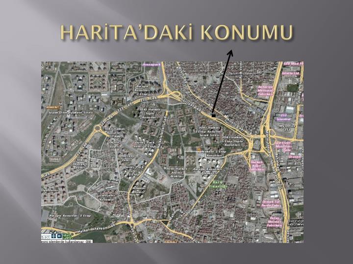 HARİTA'DAKİ KONUMU