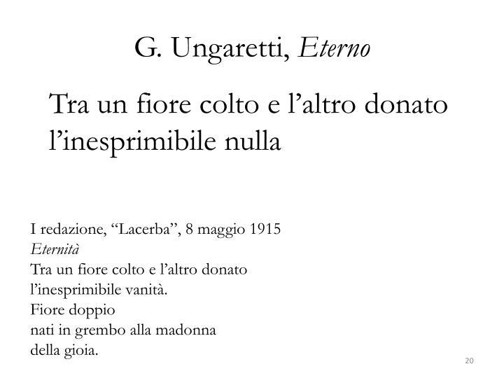 G. Ungaretti,