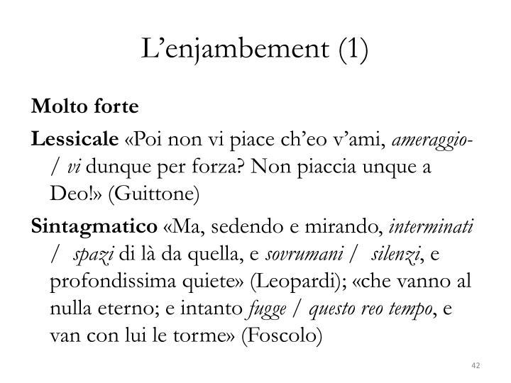 L'enjambement (1)