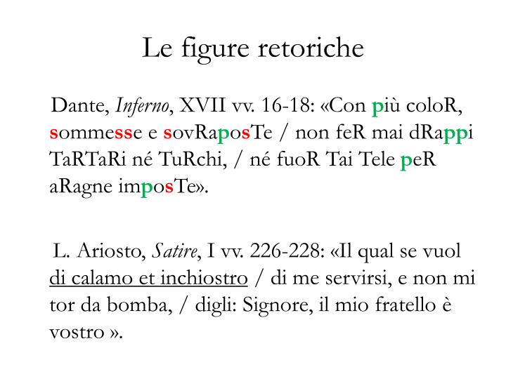 Le figure retoriche