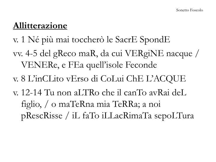 Sonetto Foscolo
