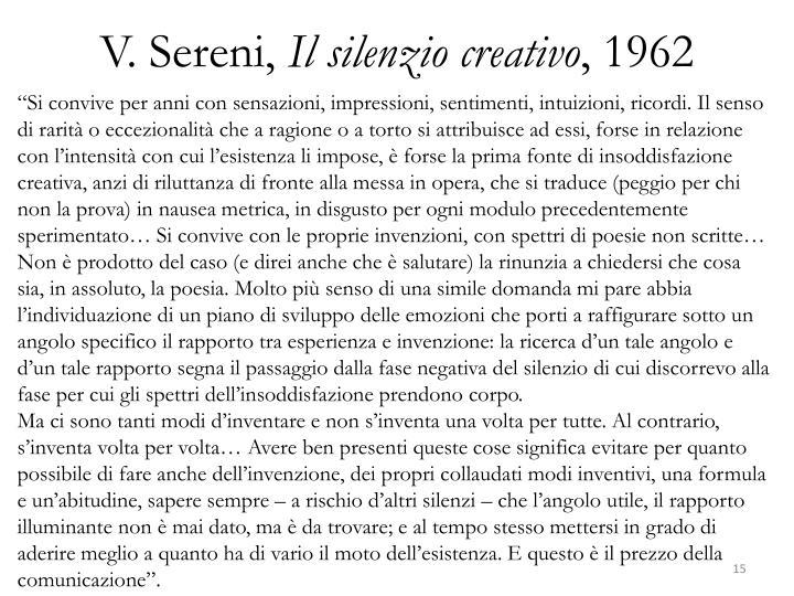 V. Sereni,