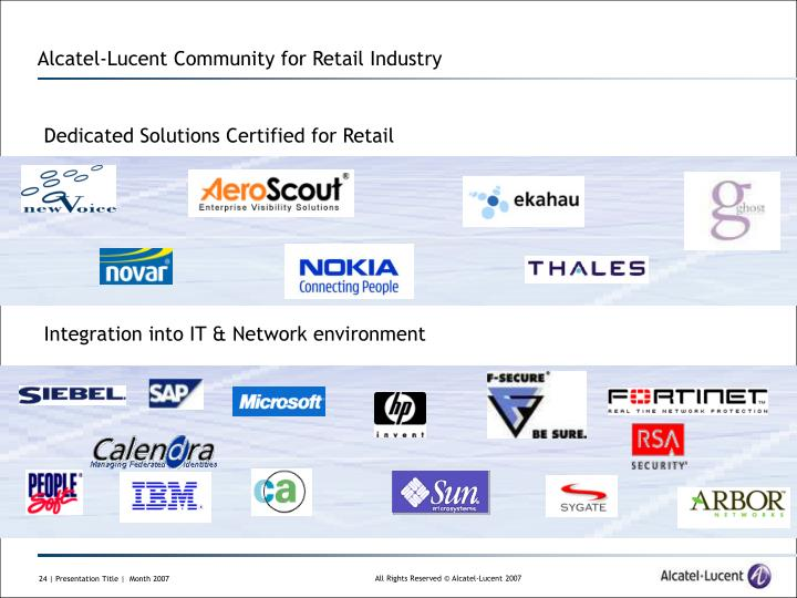 Alcatel-Lucent Community for Retail Industry