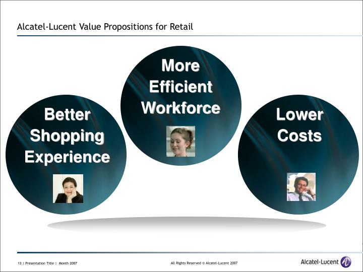 Alcatel-Lucent Value Propositions for Retail