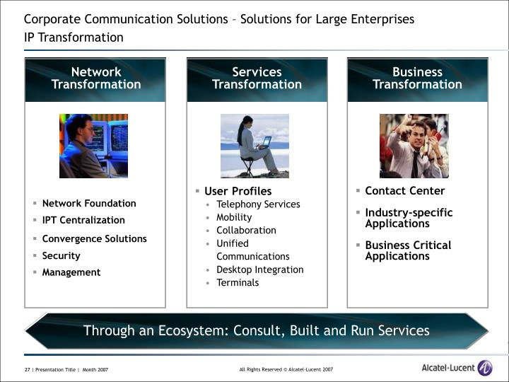 Corporate Communication Solutions – Solutions for Large Enterprises
