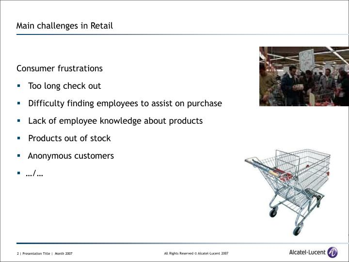 Main challenges in retail