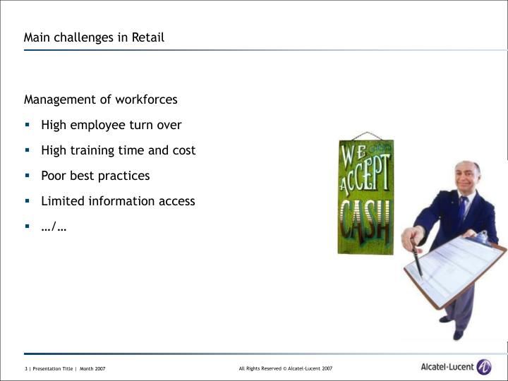 Main challenges in retail1