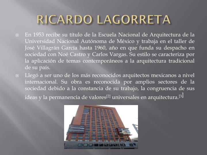 RICARDO LAGORRETA