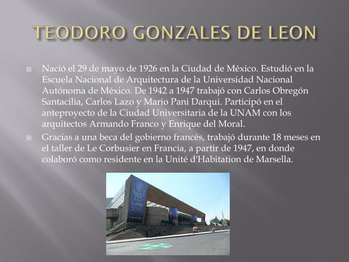 TEODORO GONZALES DE LEON