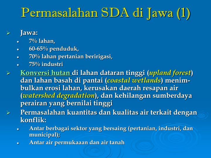 Permasalahan SDA di Jawa (1)
