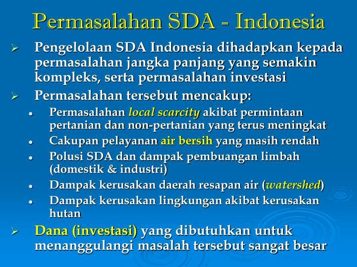 Permasalahan SDA - Indonesia