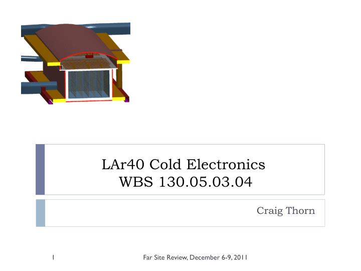 LAr40 Cold Electronics
