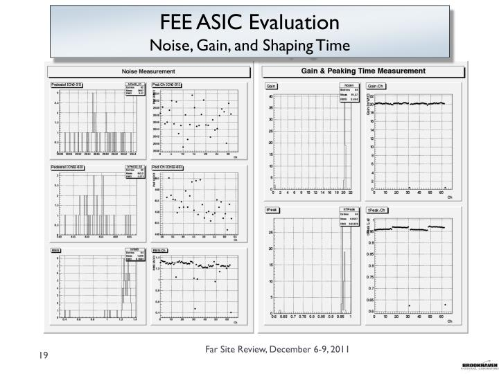 FEE ASIC Evaluation