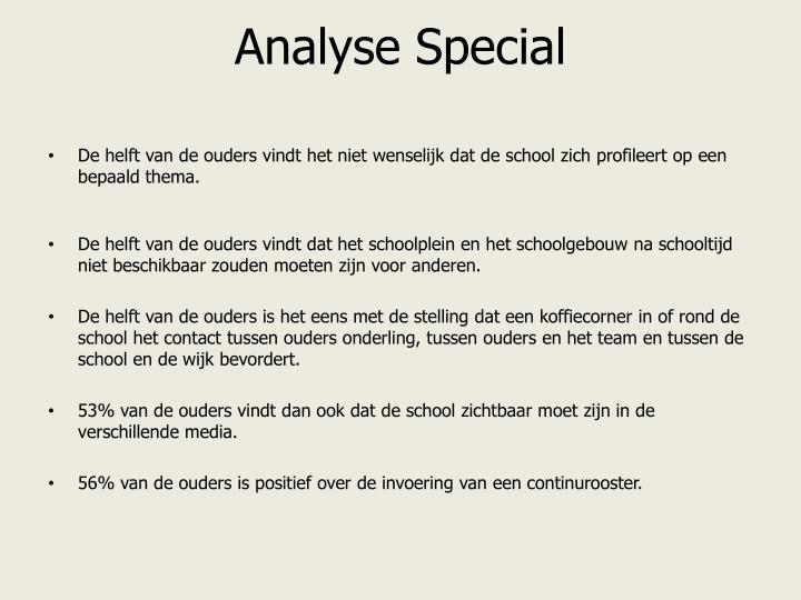 Analyse Special