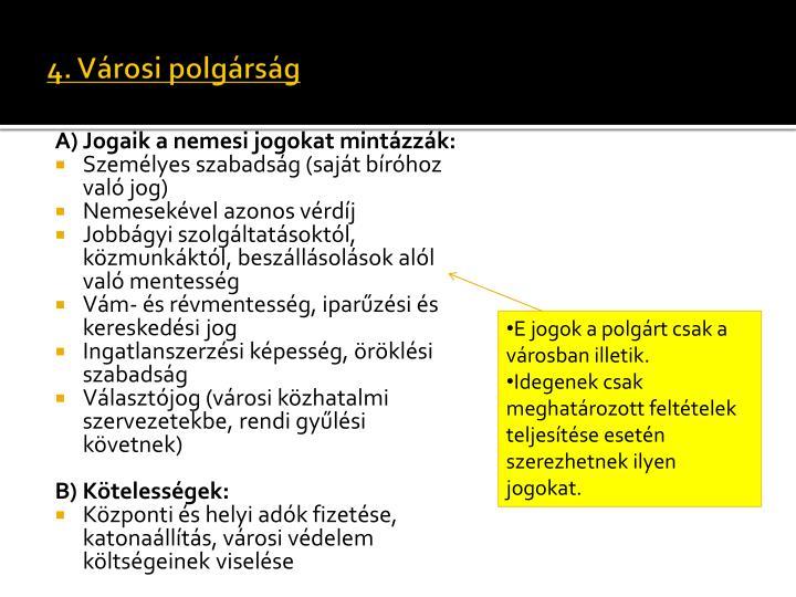 4. Városi polgárság
